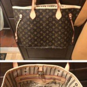 Louis Vuitton nenerfull MM tote handbags pursu